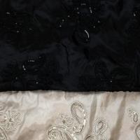 paisley black/white/champagne